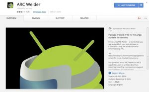 Arc Welder Add to Chrome for showbox