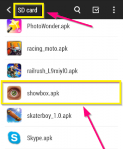 Run ShowBox APK From SD Card